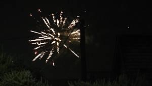 Novoroční ohňostroj na Vysočině
