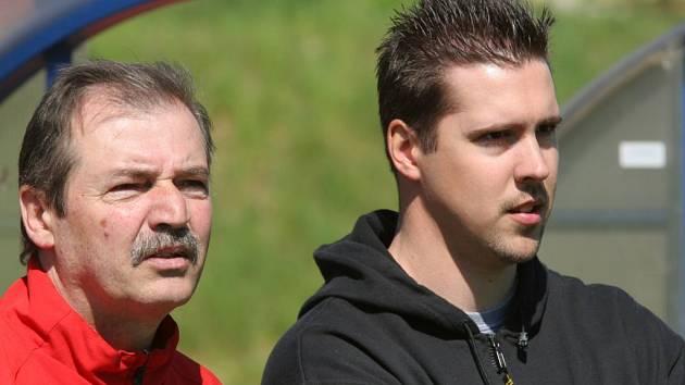 Petr Svoboda (vpravo) se po osmi letech vrací do jihlavského hokeje, stal se asistentem trenéra prvoligové Dukly.
