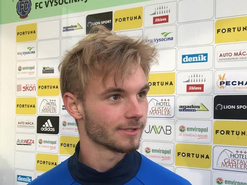 Středopolař FC Vysočina Jihlava Jakub Selnar.