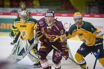 Hokejový zápas 27. kola hokejové Chance ligy mezi HC Dukla Jihlava a VHK ROBE Vsetín.