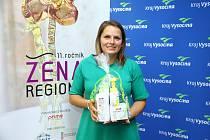 Nová žena regionu Barbora Hardous, přebrala ocenění.