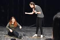 Mladí herci si v jihlavském DIODu vyzkoušeli, jak vypadají přijímací zkoušky na umělecké školy.