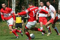 Fotbalisté Stonařova na domácím hřišti dvakrát smazali jednobrankové manko, ale na rozhodující trefu čáslavického Kuby už nezareagovali.