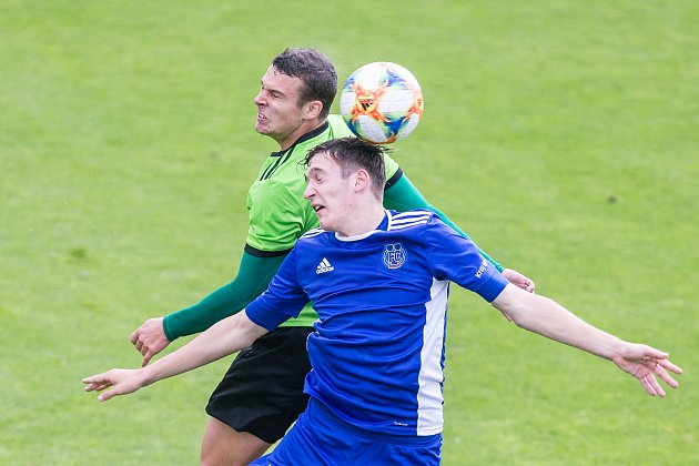 Fotbalové utkání mezi FC Vysočina Jihlava a FC Slavoj Vyšehrad.