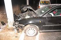 Sobotní nehoda v jihlavské  ulici S.K.Neumanna