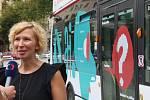 Nový design trolejbudu byl představen na jihlavském náměstí.