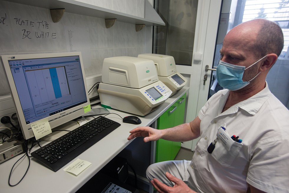 Laboratoře Státního veterinárního ústavu Jihlava, ve kterých testují vzorky s podezřením na Covid-19.