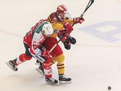 Jen tak dál. Jihlavští hokejisté pod vedením svého kapitána Tomáše Čachotského vyhráli i ve třetím barážovém utkání a po čtvrtině baráže jsou usazeni na čele tabulky.