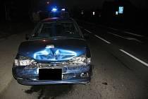 Dopravní nehoda v Brněnské ulici.