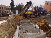 Rekonstrukce kanalizace. Ilustrační foto.