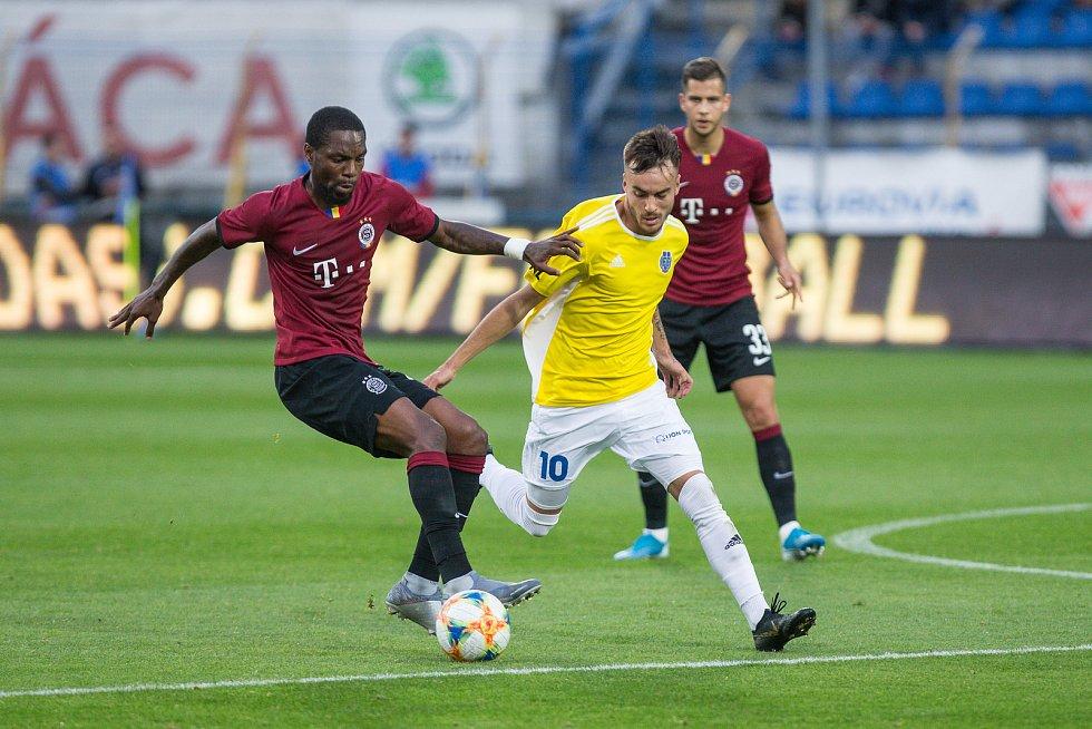 Fotbalové utkání třetího kola MOL Cupu mezi FC Vysočina Jihlava a AC Sparta Praha.