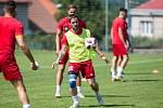 Trénink FC Vysočina Jihlava. Na snímku Matúš Lacko