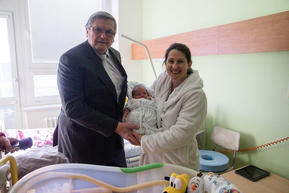 Veronika Novotná je první narozené miminko roku 2020 na Vysočině.