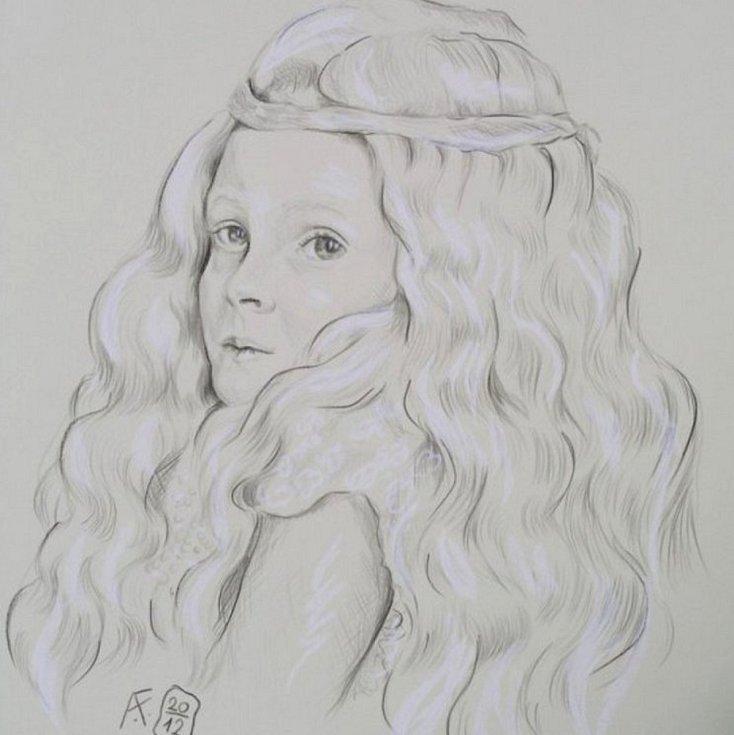 Karla Nixová, kresba.