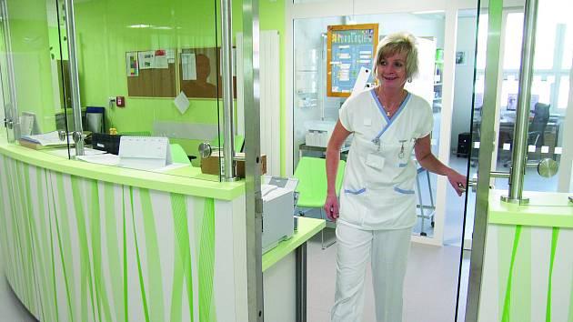 Sesterna neurologického oddělení jihlavské nemocnice.