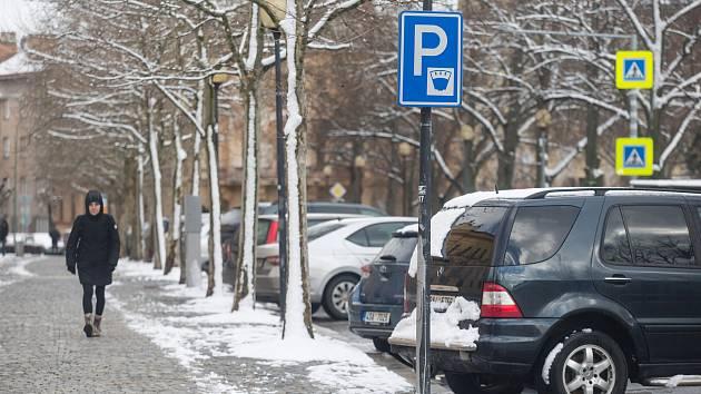 Parkování v Jihlavě, ilustrační foto