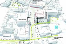 Architektonická soutěž se týkala pěti jihlavských lokalit. V Havlíčkově ulici (na snímku) má například přibýt zeleň a zúží se silnice.