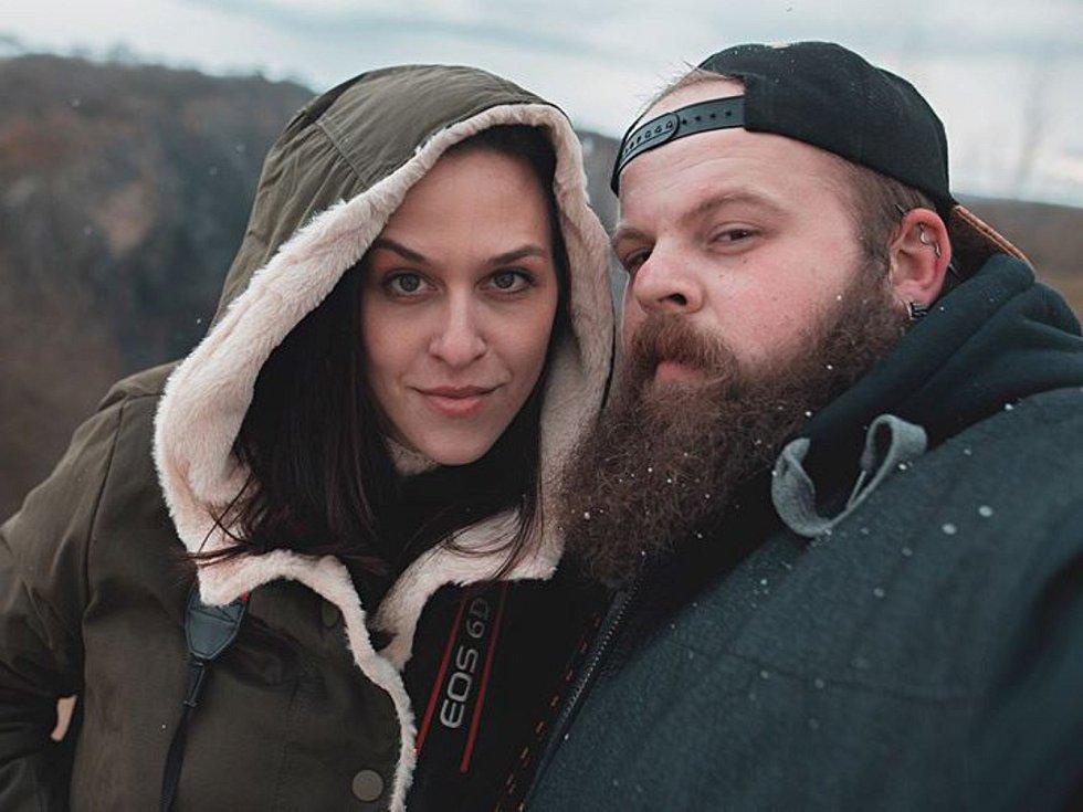 Lukáš Vrábel s partnerkou Martou Koutníkovou, rovněž fotografkou.