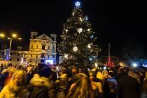 Rozsvícení vánočního stromu a vánoční výzdoby v Jihlavě.
