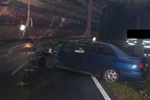 Ošklivě vypadající dopravní nehoda se stala nedaleko obce Jamné.