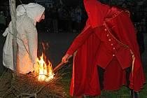 Pálení čarodějnic v Třešti.