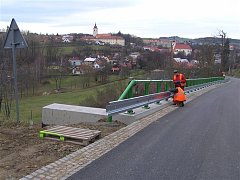 Takto vypadá již dokončený úsek silnice za Brtnicí.