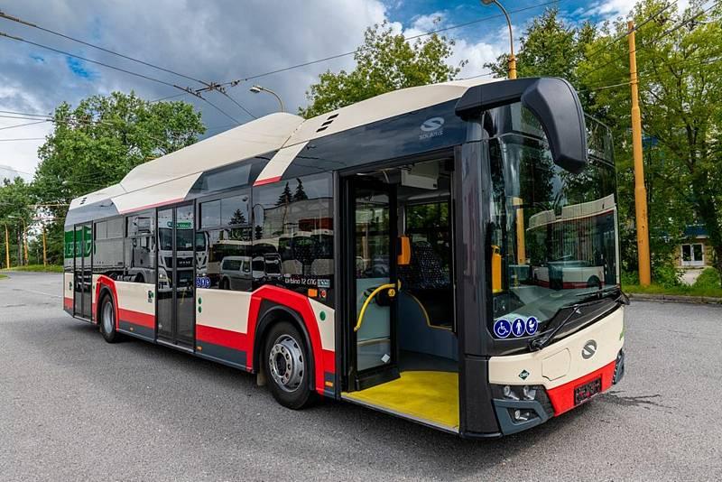 Autobusy v Jihlavě.