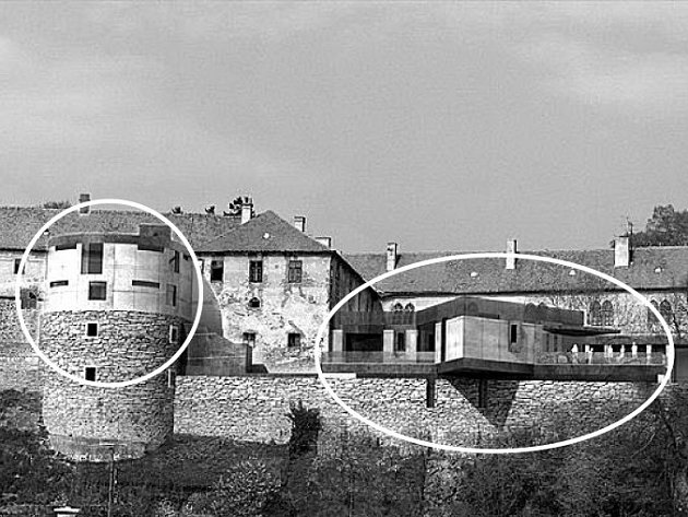 Podle diplomové práce Vojtěcha Dvořáka by měly být největší změny brtnického zámku v přístavbě na druhém nádvoří  (zvýrazněno  na snímku).