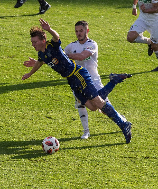 Odvetné utkání baráže o účast v první fotbalové lize mezi FC Vysočina Jihlava a MFK Karviná.