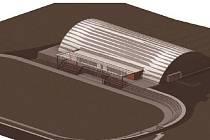 Vizualizace nového zimního stadionu v Telči, který se za pár dní otevírá