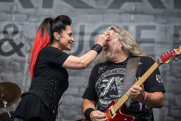 Arakain a Lucie Bílá na Vysočina festu 2018.