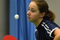 Jihlavské stolní tenistky překvapily. Daniela Růžičková (na snímku) a Michaela Morkusová remizovaly s Děhylovem a vyhrály ve Frýdlantu!