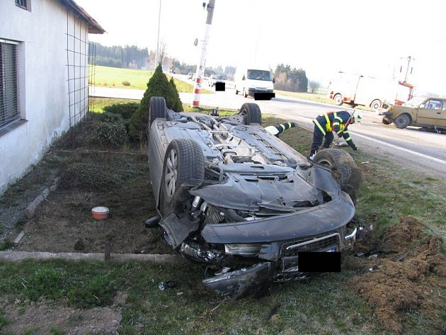 Autonehoda v Markvarticích na Jihlavsku.