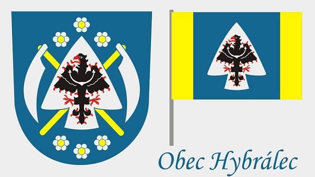 Navrhovaný znak obce Hybrálec.