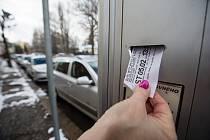 Parkování v Jihlavě.