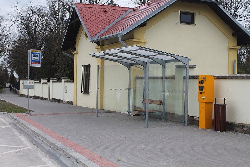 Zastávka P+R Žižkova vznikla na podzim 2018 v souvislosti s vybudováním velkého parkoviště.