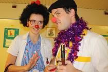 Zdravotní klauni v jihlavské nemocnici.