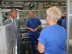 V rámci návštěvy jihavské firmy Bosch Diesel  se ministr financí Andrej Babiš potkal i se zaměstnanci firmy.