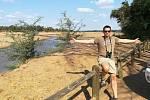 Řeka Limpopo v Krugerově parku.