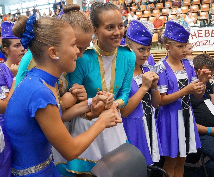 Telčské mažoretky v Maďarsku.