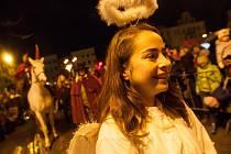 Svatomartinský průvod se opět neobejde bez andílků.