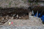 Archeologický výzkum na Rokštejně.
