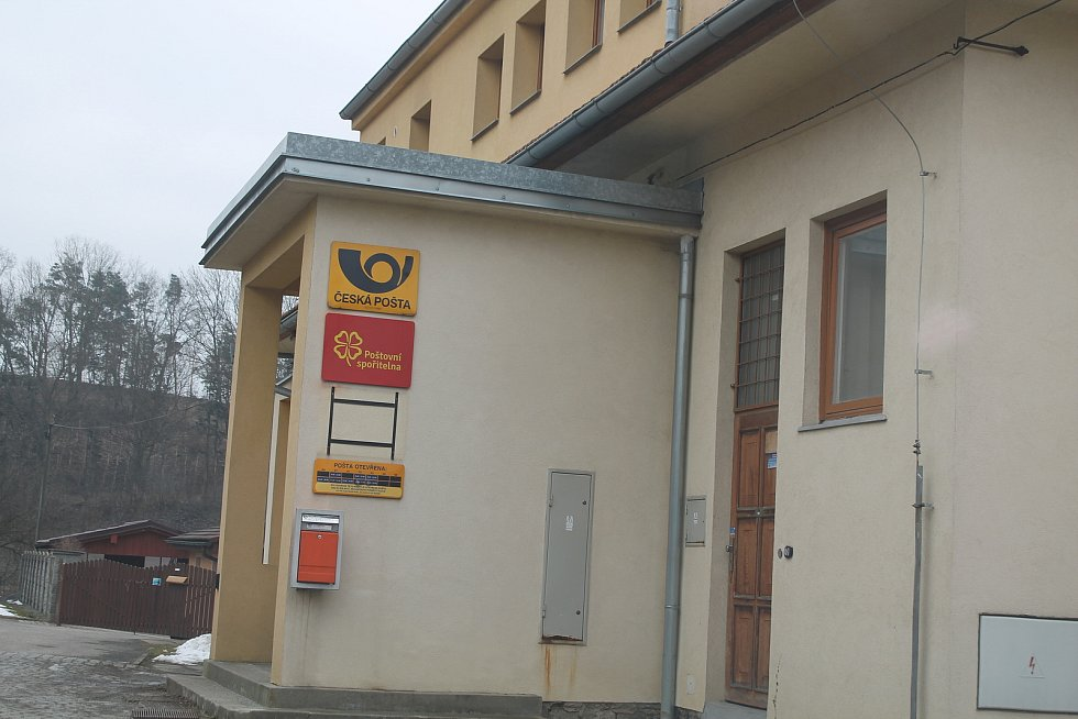 Pošta v Kamenici na Jihlavsku.