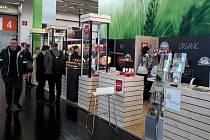 Stánek českých bio produktů v Norimberku.
