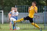 Fotbalové utkání divize D mezi TJ Slavoj TKZ Polná a FC Slovan Rosice.