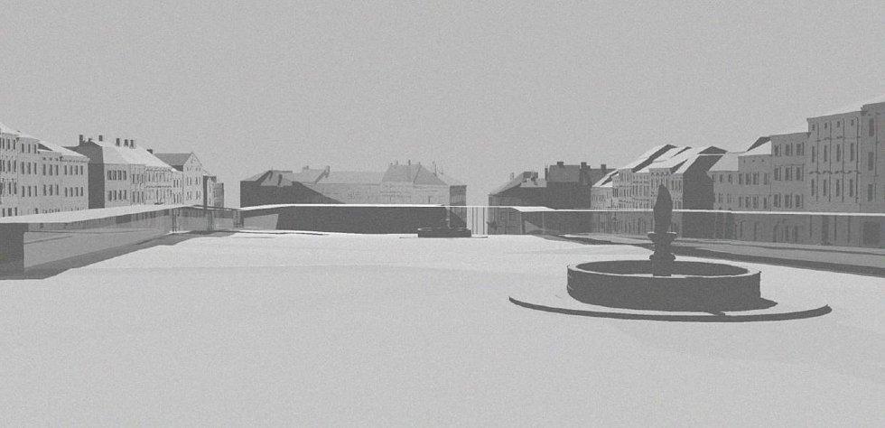 Návrh na budoucnost Masarykova náměstí od studenta Marka Čambora.