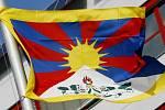 Tibetská vlajka. Ilustrační foto.