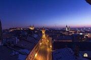 Zatmění Měsíce dnes 21. ledna v Jihlavě. Foto: