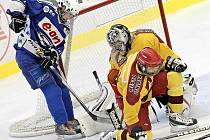 Takový byl ve středečním utkání s Kometou jihlavský gólman David Krejčík, na kterém si hosté z Brna vylámali zuby.