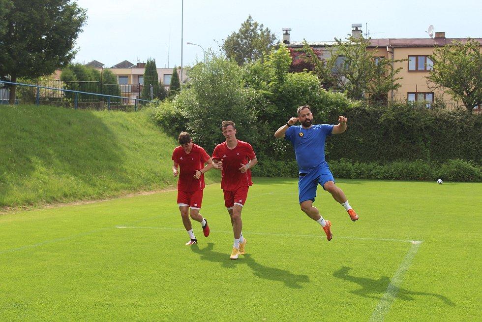 Tomáš Josl na prvním tréninku FC Vysočina před novou sezonou.
